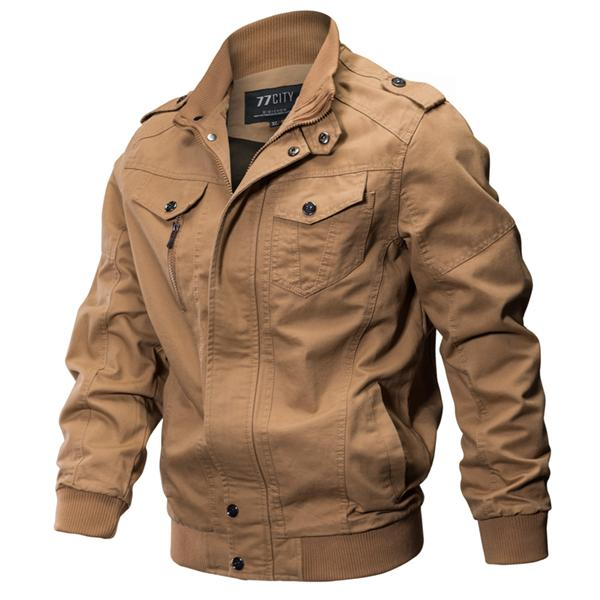 00e5e9b92f5 Epaulet Tactical Military Washed Cotton Plus Size Outdoor Work Autumn  Casual Jackets for Men