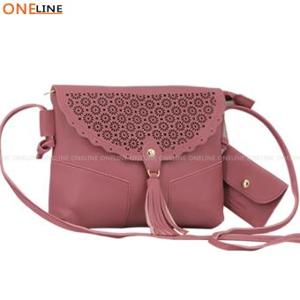 Oneline Fashion Tassel Trends Sling Bag with Wallet For Ladies