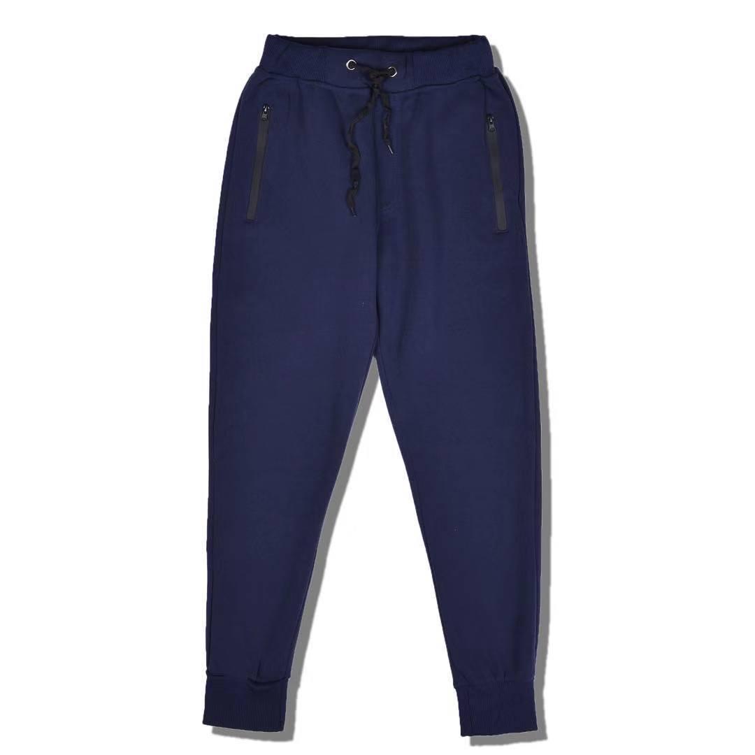 MOSO Plain Cotton Material Unisex Garterized Jogger Pants With Zippered  Pocket d8312695f7d11