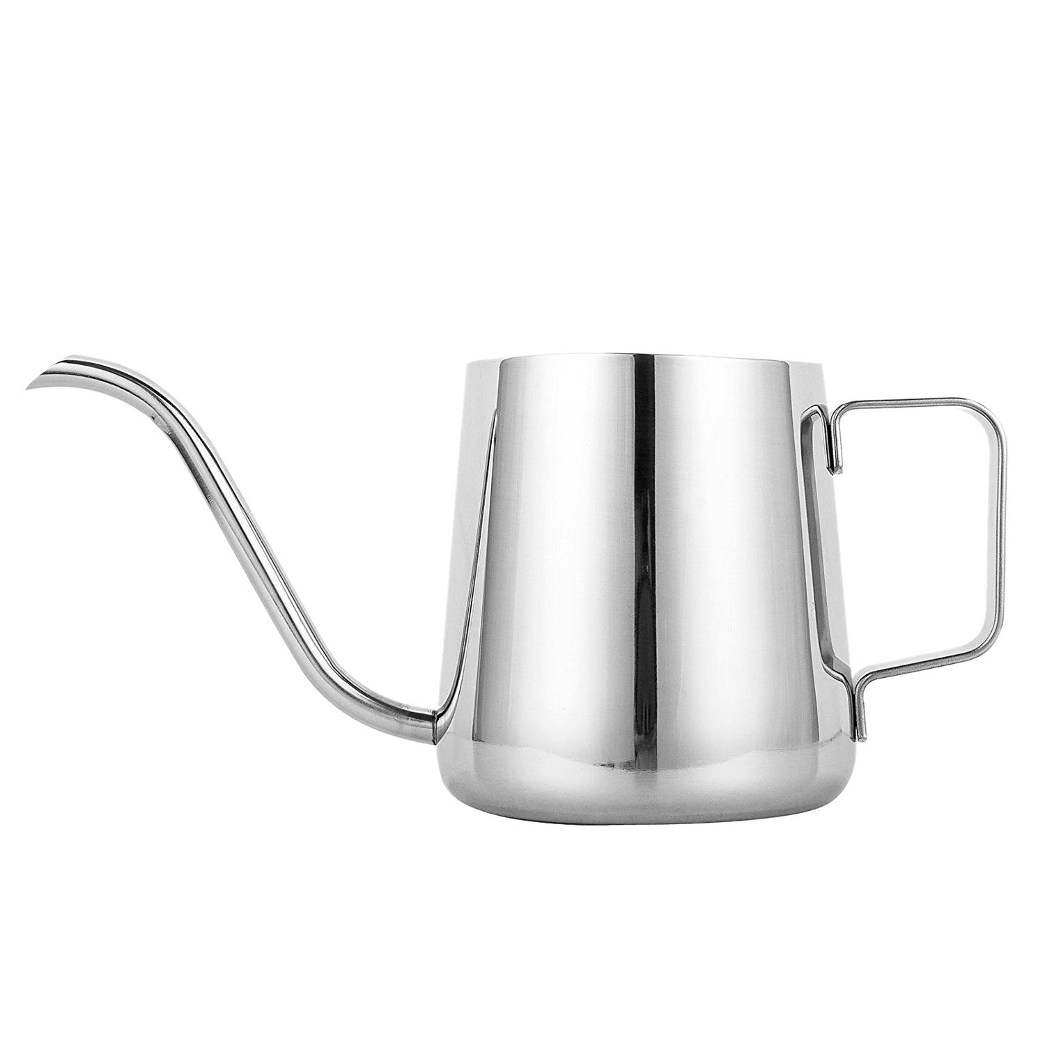 Long Narrow Spout Coffee Pot (12oz /350ML) - 304 Stainless Steel with Hanging