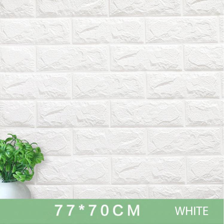 10pcs New Thick 3D Colored Foam Bricks Waterproof Wall Sticker Pattern Self Adhesive Soft Home Decor