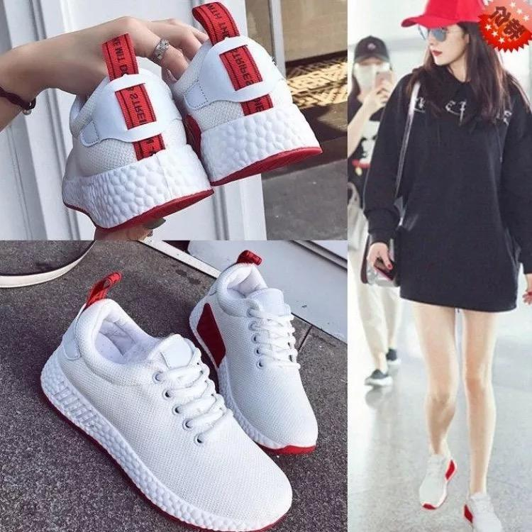 ca96bb58f QQS 2018 trend wild female Korean version of thick-soled running shoes  casual wild female students white shoes