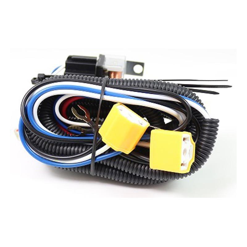"2X 7/""inch Headlight Hi Heat Headlamp Bulb H4 Wiring Harness Ceramic Socket Plugs"