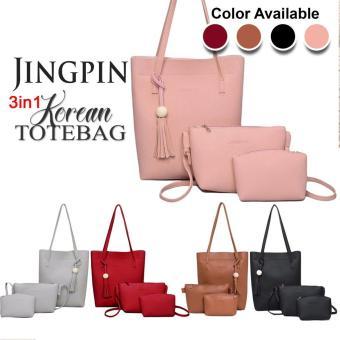 UISN MALL 3 in 1 Jingpin Leather Tote Bag Sling Bag #301
