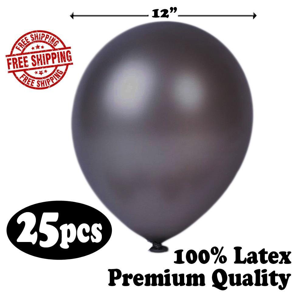 METALLIC BALLOONS 25 PIECES 100 LATEX PREMIUM QUANLITY 12 FOR EVENT BIRTHDAY GRADUATION