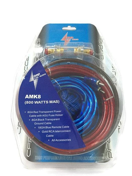 amk8 high performance car audio wiring kit