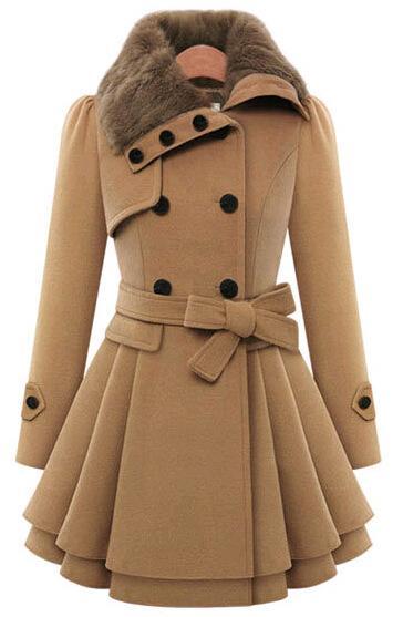 2017 Ladies Long Winter Jackets Coat Women Coats Woolen Jacket