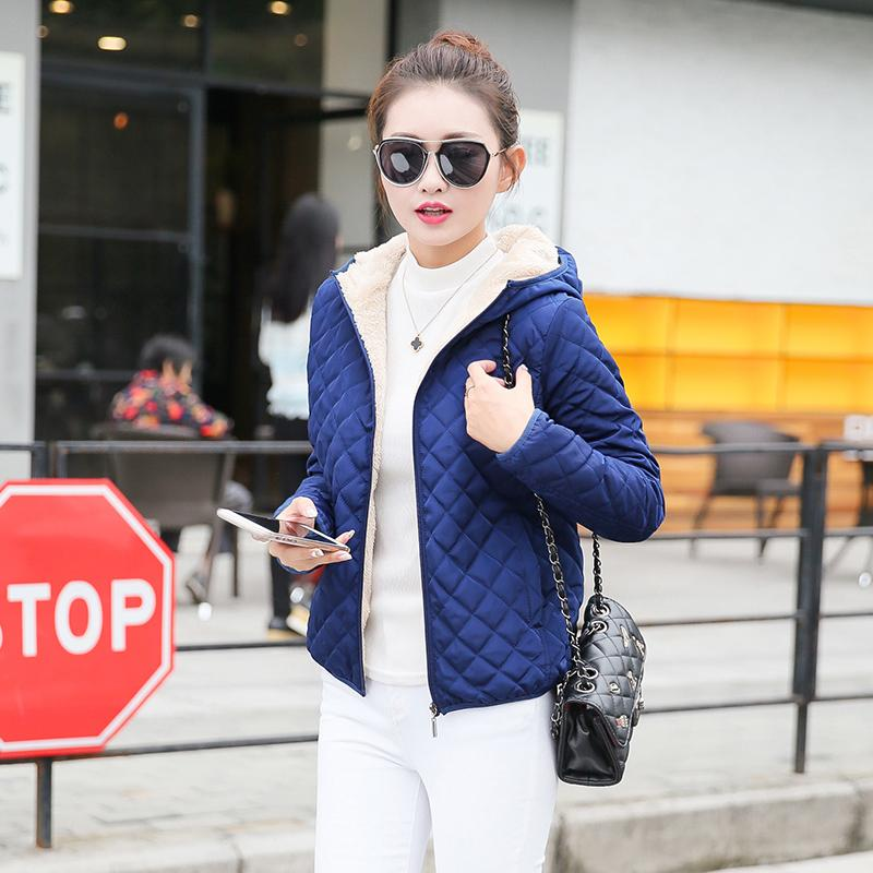 a1e87435c1b52 If Finn Winter Cotton-padded Clothes women Short Thin Small Quilited Jacket  Leisure Brushed And