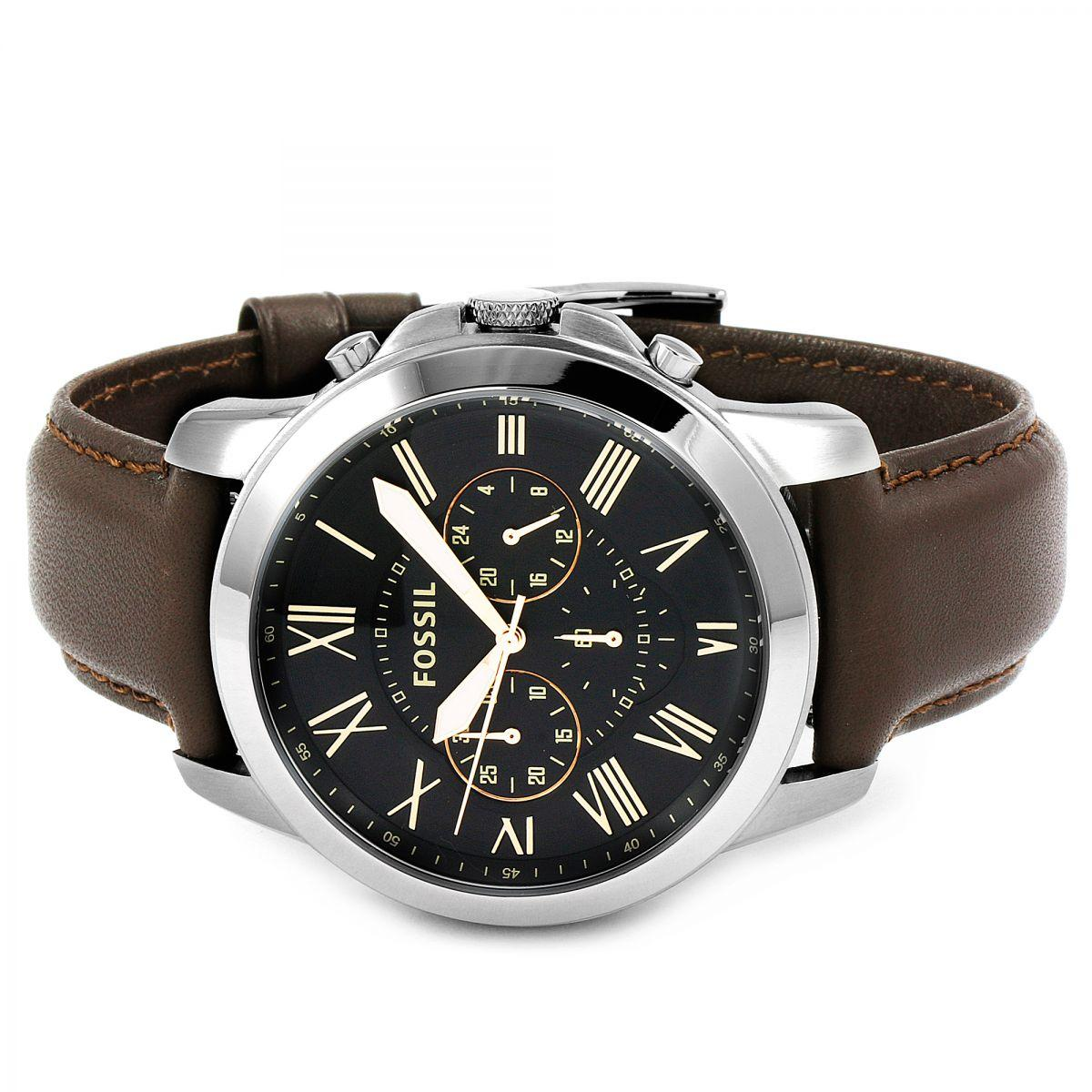 Fossil Philippines Watches For Sale Prices Reviews Lazada Jam Tangan Original Jr1354 Nate Chronograph Black Leather Grant Dial Brown Mens Watch