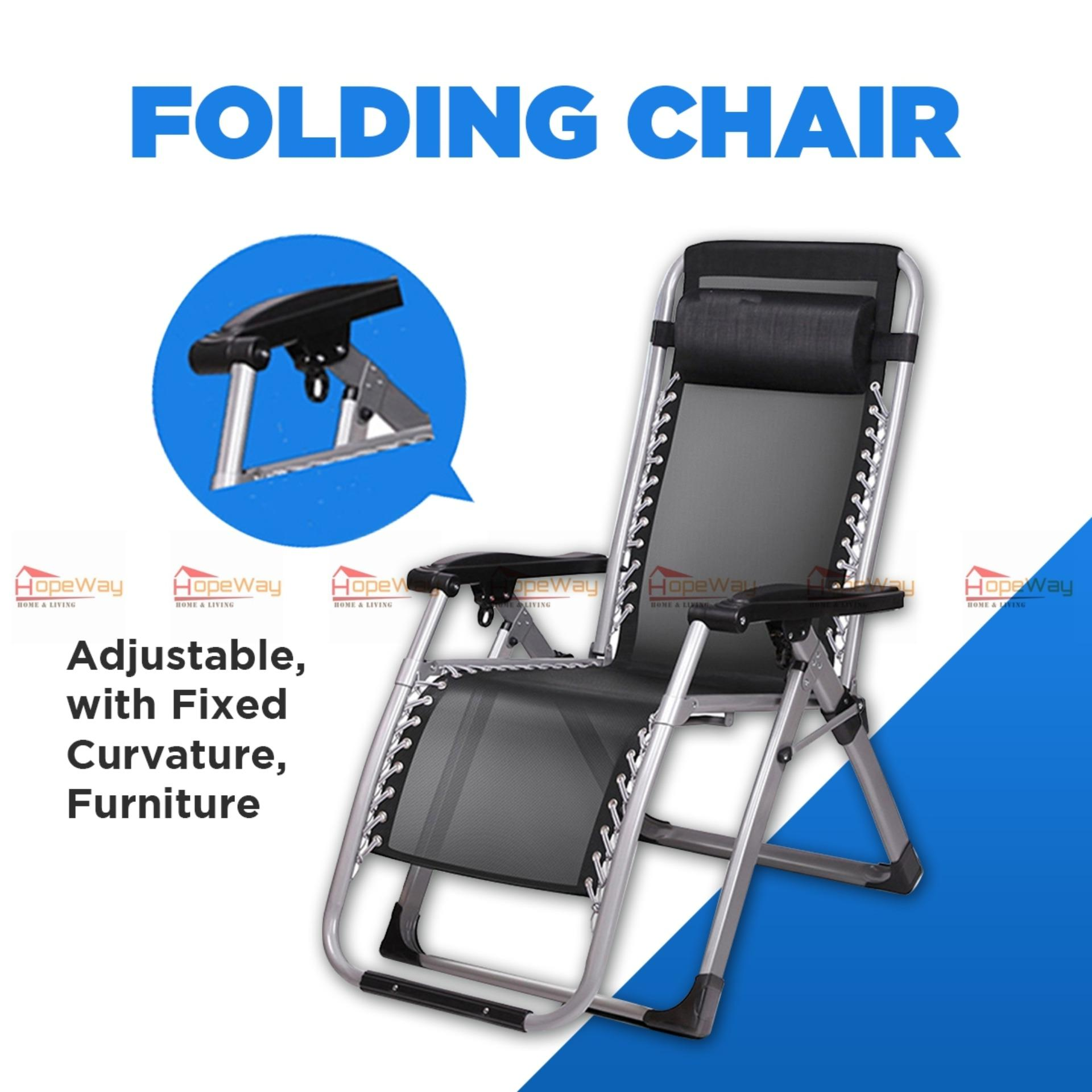 Hopeway Folding Chair Adjustable With Fixed Curvature Furniture Metal