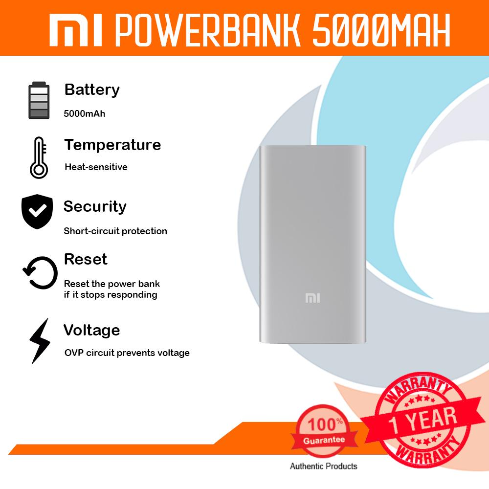 Mi Philippines Power Bank Charger For Sale Prices Reviews Lazada Powerbank Xiaomi Slim 5000 Mah Ori Ndy 02 Am 5000mah Silver Led Indicators Fast