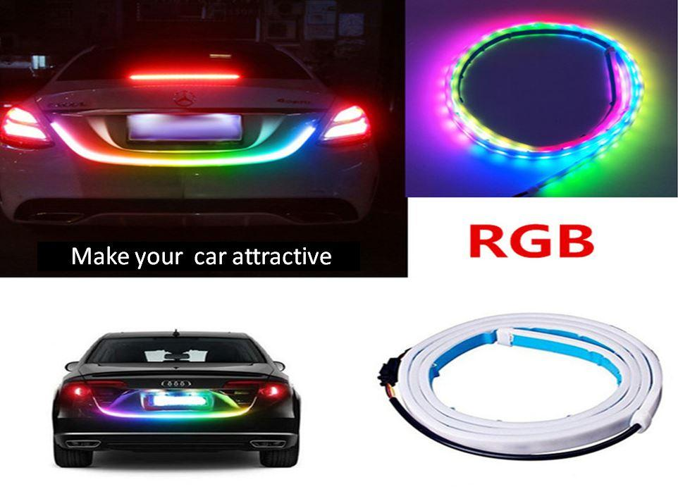 Car Styling Led Universal Decorative Lamp Vehicle Led Net Lights Rgb Lamps Car Warning Emergency Strip Flow Flashing Bulbs A Wide Selection Of Colours And Designs Automobiles & Motorcycles Decorative Lamp