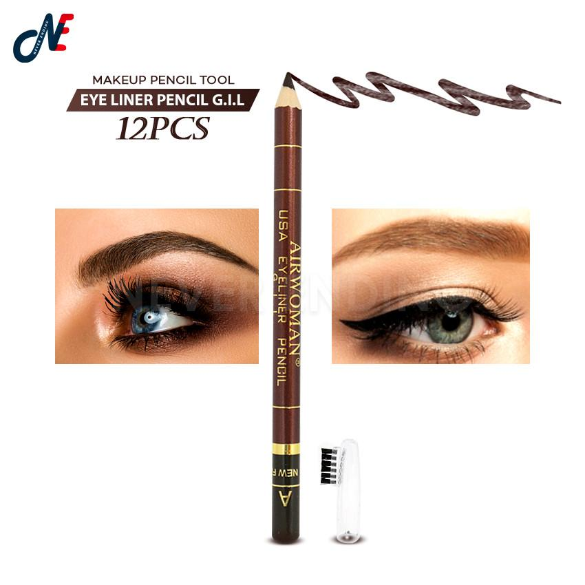 12pcs. Airwoman JA004-125A USA Eyeliner Pencil G.I.L Philippines