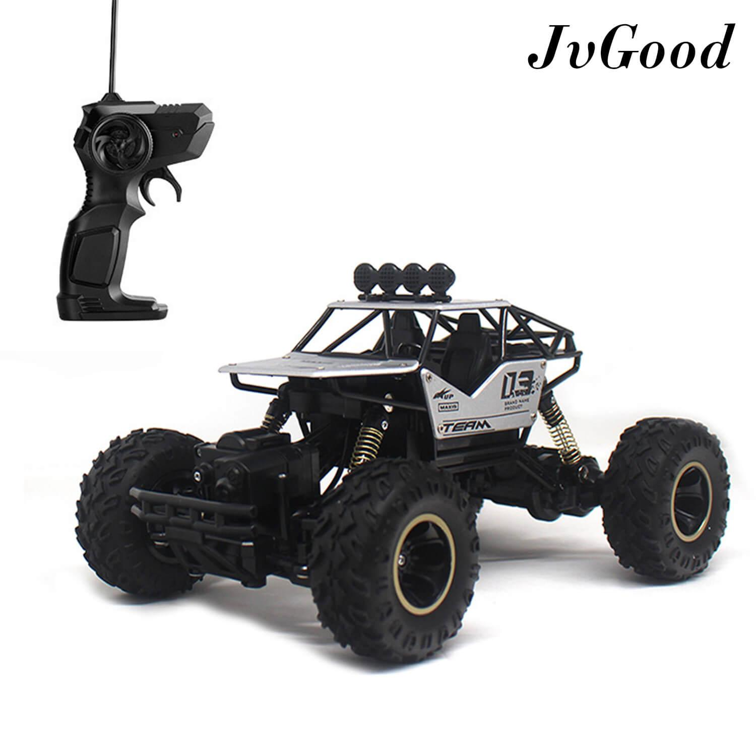 Jvgood Electric Rc Vehicle Rock Crawler Alloyed Rc Car Remote Control Toy Cars Radio Controlled Drive Off-Road Toys Off-Road Truck 4 Wheels Drive Suv Buggy Car 1:16 Scale Rc Climbing Car For Boys Kids By Jvgood.
