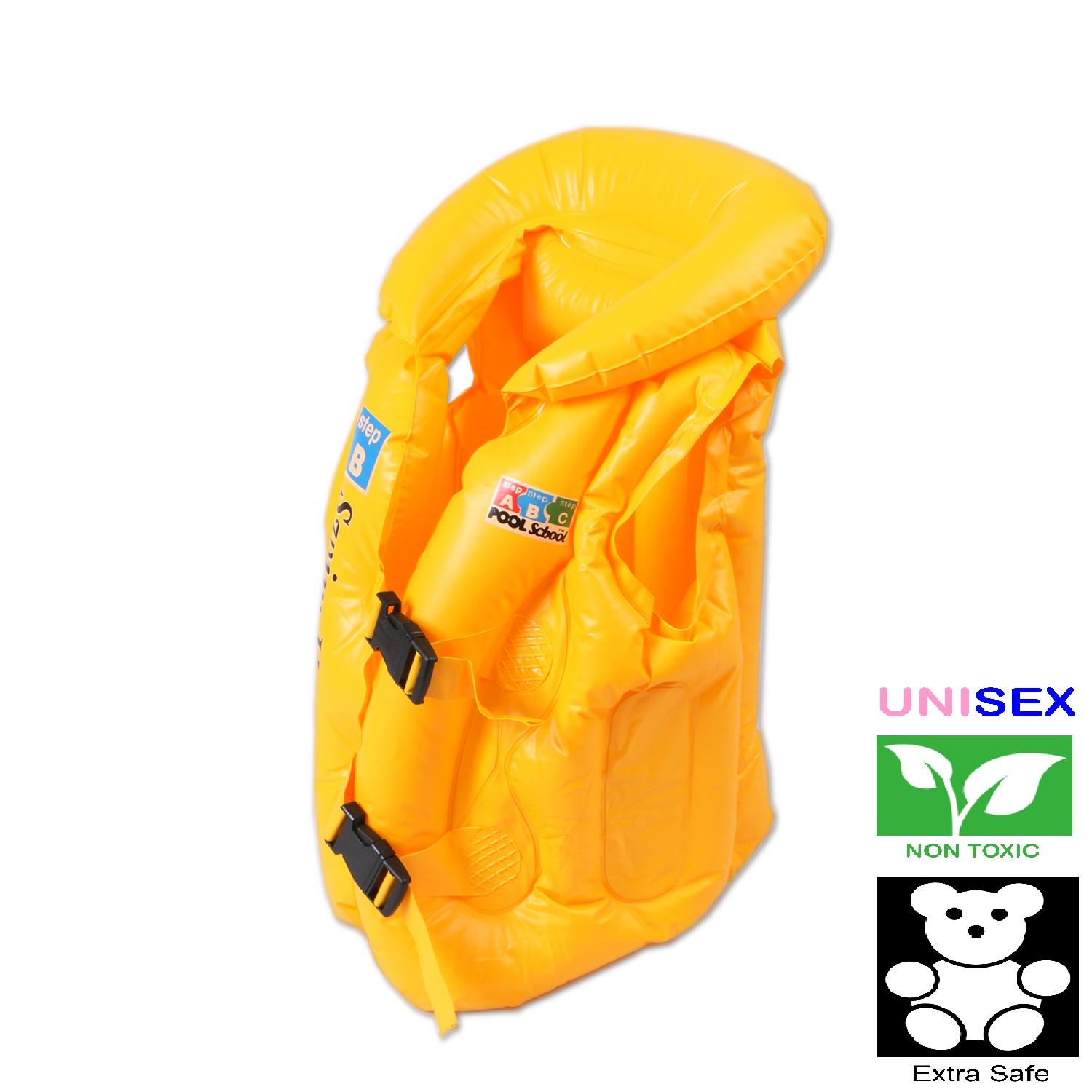 Advanced Inflatable Swimming Aid Vest For Kids (yellow) By Panmanhattan Marketing Corp.