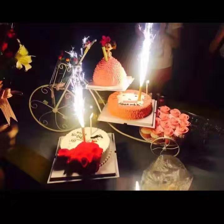 Terrific Ins Style Creative Birthday Cake Sparkler Candles Firework Spray Personalised Birthday Cards Akebfashionlily Jamesorg
