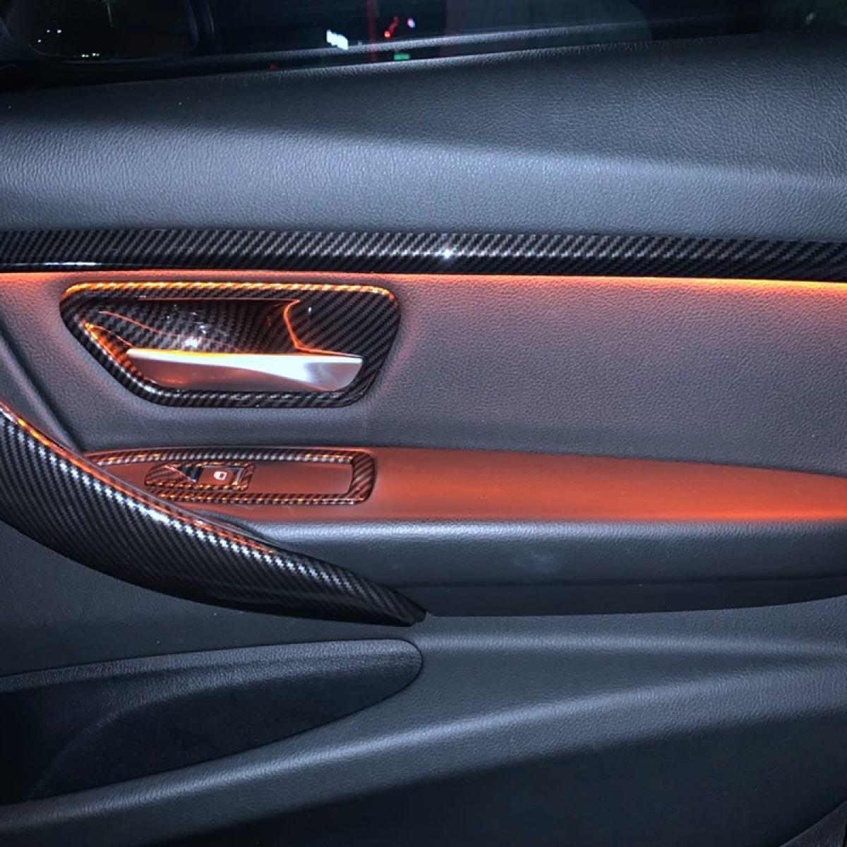 Carbon Look Interior Door Handle Cover Trim For Bmw 3 Series F30 F31 Gt F34 4 Series F36 Lazada