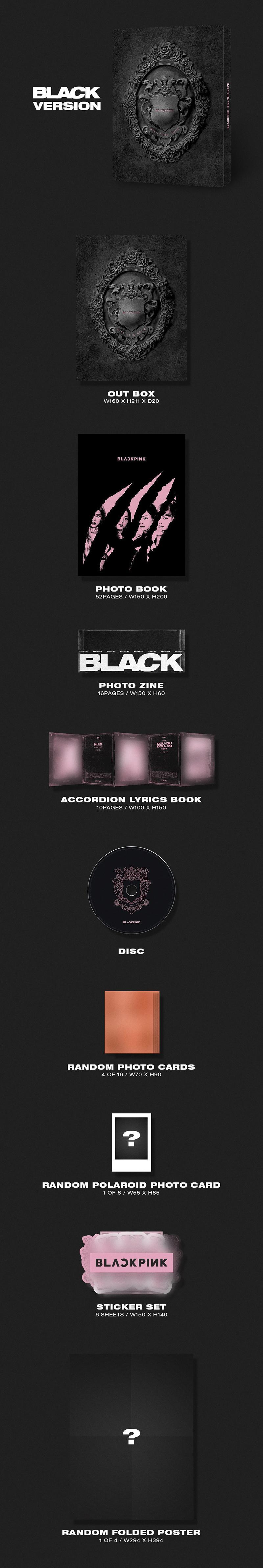 BLACKPINK Kill This Love Mini Album Black Version (Official)
