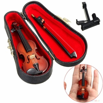 1/12 Dollhouse Miniature Wooden Violin With Stand In B Music