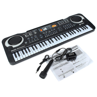 2pcs 61 Keys Digital Music Electronic Keyboard Key Board Gift Electric Piano Organ - Intl