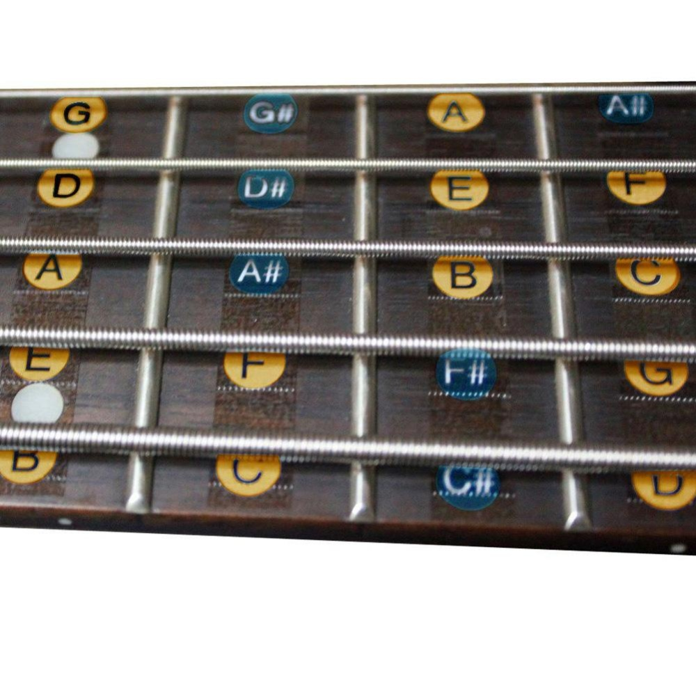 2Pcs Fretboard Fingerboard Note Label Fret Stickers for Guitar Bass- intl