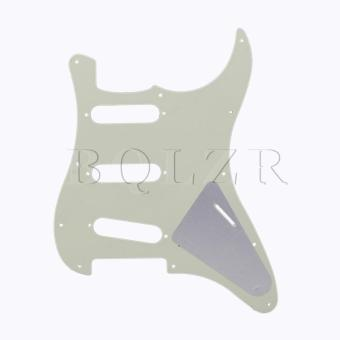 3 PLY 11 Hole Left handed Guitar Guard Plate Mint Green - picture 2