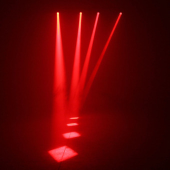 3W LED RED Beam Spotlight Party DJ Bar Stage Lighting Pinspot Ligh eu plug (Intl) - picture 2