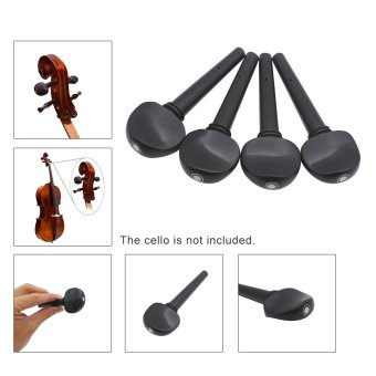 4pcs 4/4 Cello Tuning Accessory Part Kit Ebony Cello Peg Musical Instruments Tool - picture 2