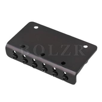 6 string Fixed Hard Tail Guitar Bridge Black - 2