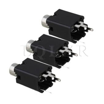Acousti guitar jack for equalizer output Set of 10 Chrome - picture 2