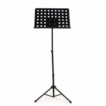 Adjustable Professional Orchestral Music Stand Tripod Base (Black)