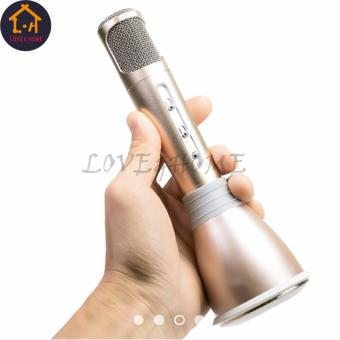 Adventurers Portable Handheld Bluetooth KTV Wireless KaraokeMicrophone Player for Mobile Devices Smartphone/IOS Set Of 2(Gold) - 5