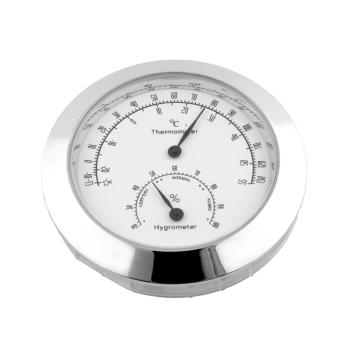 Alloy Silver Humidity Thermometer Hygrometer Case For Guitar Mini Useful