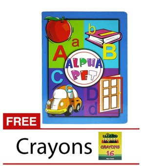 Alphabet Book with free Crayons 16 Colors