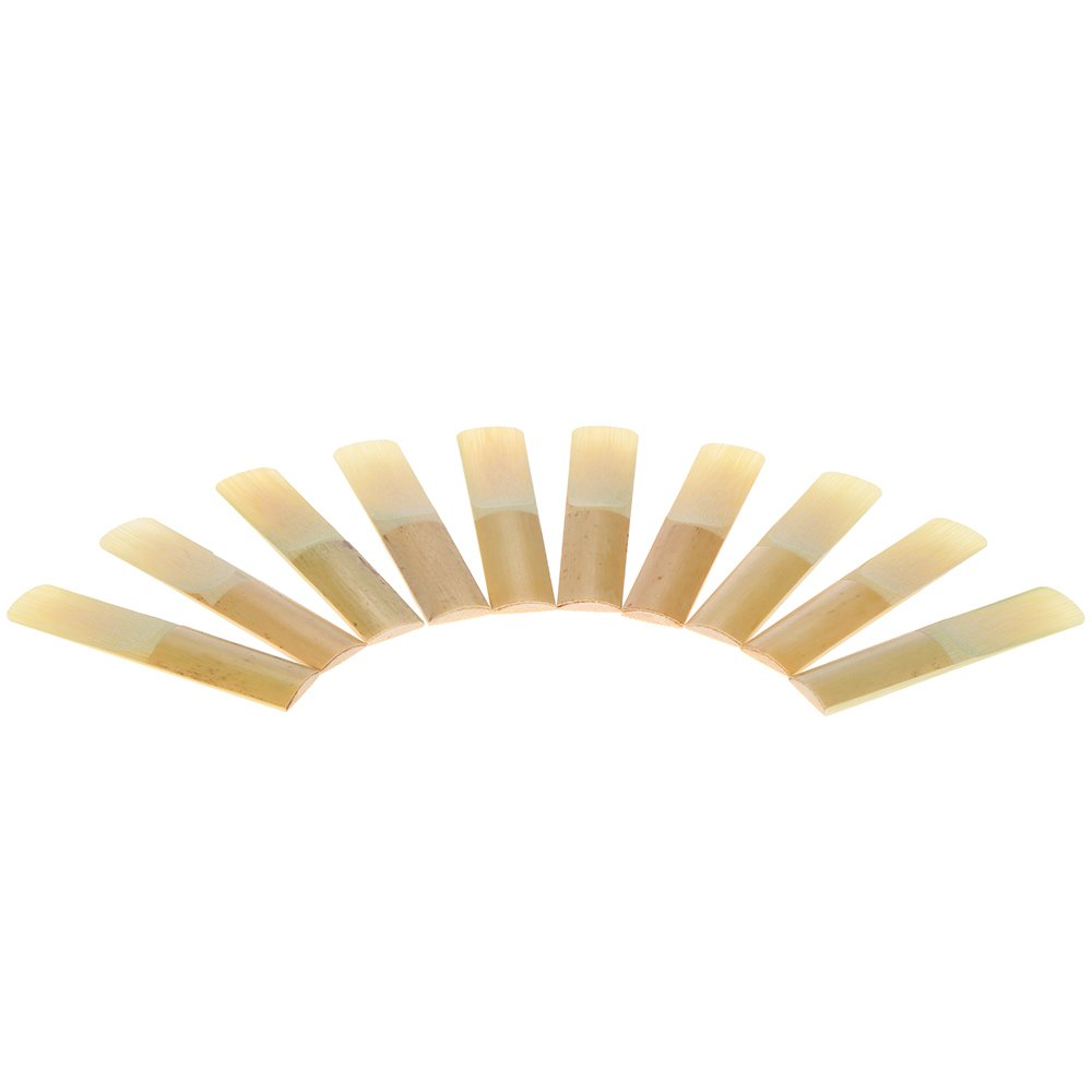 ... ammoon 10-pack Pieces Strength 3.0 Bamboo Reeds for Eb Alto Saxophone Sax Accessories Outdoorfree ...