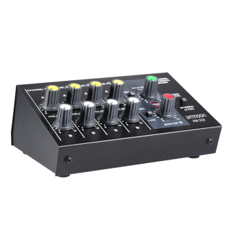ammoon AM-228 Ultra-compact Low Noise 8 Channels Metal Mono StereoAudio Sound Mixer with Power Adapter Cable Outdoorfree - 2