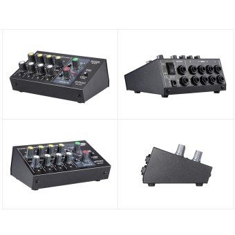 ammoon AM-228 Ultra-compact Low Noise 8 Channels Metal Mono StereoAudio Sound Mixer with Power Adapter Cable Outdoorfree - 5