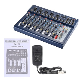ammoon F7-USB 7-Channel Digtal Mic Line Audio Sound Mixer Mixing Console with