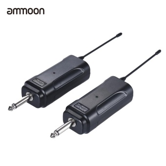 ammoon Portable Wireless Audio Transmitter Receiver System for Electric Guitar Bass Electric Violin Musical Instrument - intl - 2
