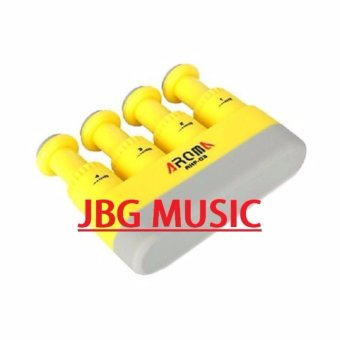 Aroma AHF-03 Portable Guitar Bass Piano Hand and Finger ExerciserMedium Tension Hand Grip Trainer Hand Exerciser (Yellow) Price Philippines