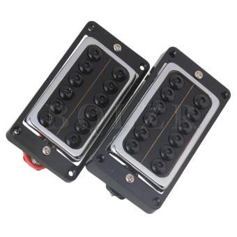 Black Round Screws N/B Humbucker Pickups for Electric Guitar Set of2 - Intl - 3
