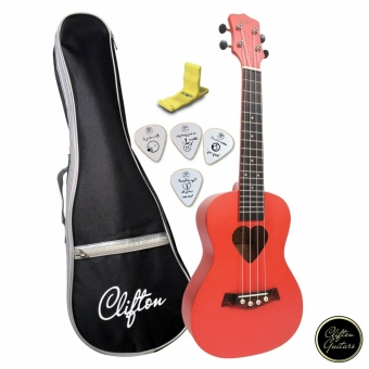 Clifton Cherrylele Pink Concert Ukulele with FREE Accessories