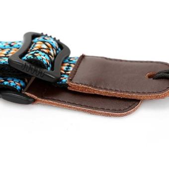 Clip On Ukulele Strap Adjustable Ukelele Strap Neck Sling SoftCotton with Sound Hole Hook Ethnic Pattern Colorful - intl - 2