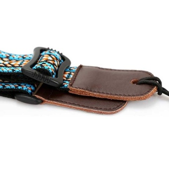Clip On Ukulele Strap Adjustable Ukelele Strap Neck Sling SoftCotton with Sound Hole Hook Ethnic Pattern Colorful - intl - 5
