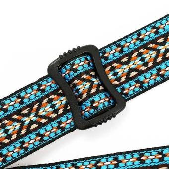 Clip On Ukulele Strap Adjustable Ukelele Strap Neck Sling SoftCotton with Sound Hole Hook Ethnic Pattern Colorful - intl - 3