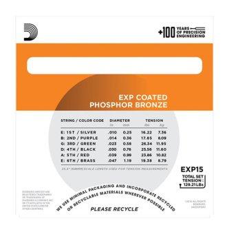 D'Addario EXP-15 Phosphor Bronze Wound - 2
