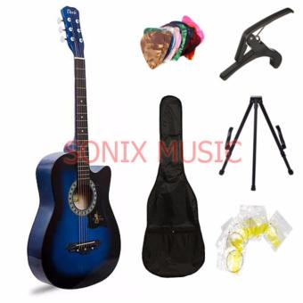 Davis Acoustic Guitar Starter Package (Blue) with FREE Guitar Stand