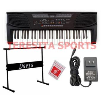 Davis D-201 54-Keys Digital Electronic Keyboard Piano Organ w/stand Package (Black)