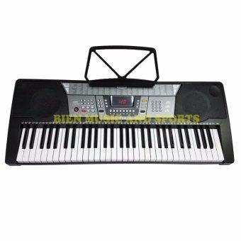 Davis D-818 61-Keys Digital Electronic Keyboard Piano Organ w/stand Package (Black) - 2