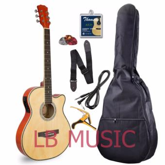 Davis Slim with 4EQ pickup Acoustic Guitar Complete Package (Natural)
